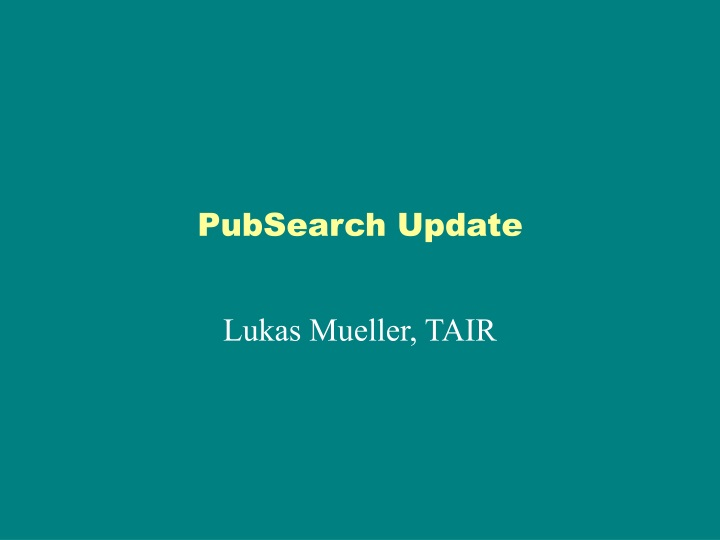 pubsearch update n.