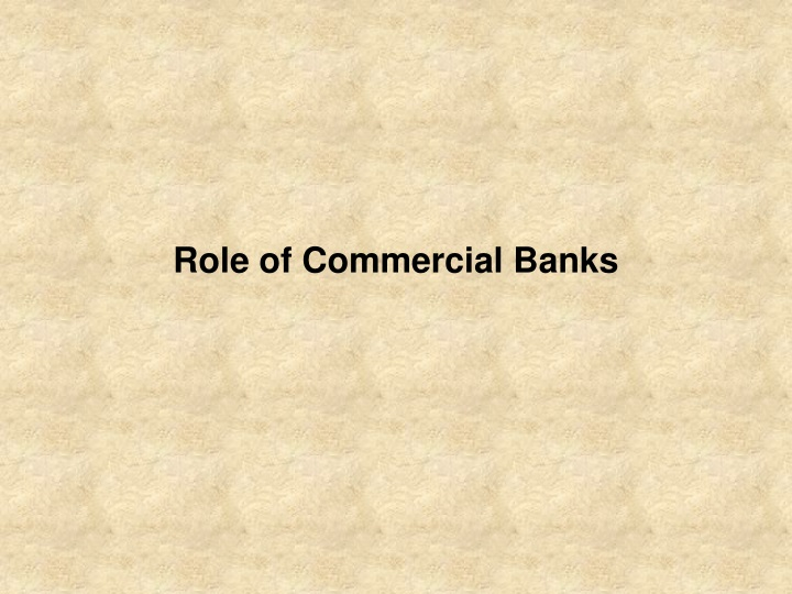 role of commercial banks n.
