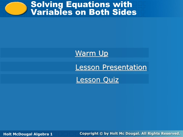 solving equations with variables on both sides n.
