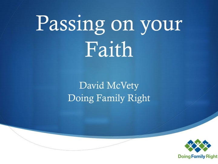 passing on your faith n.