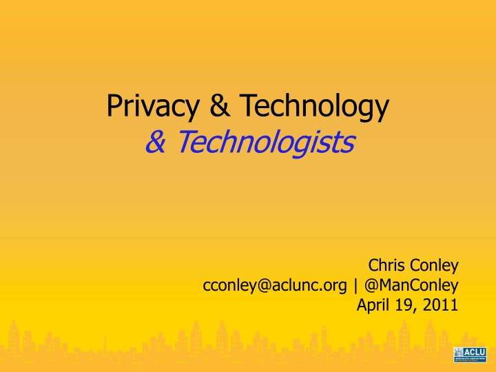 privacy technology technologists n.