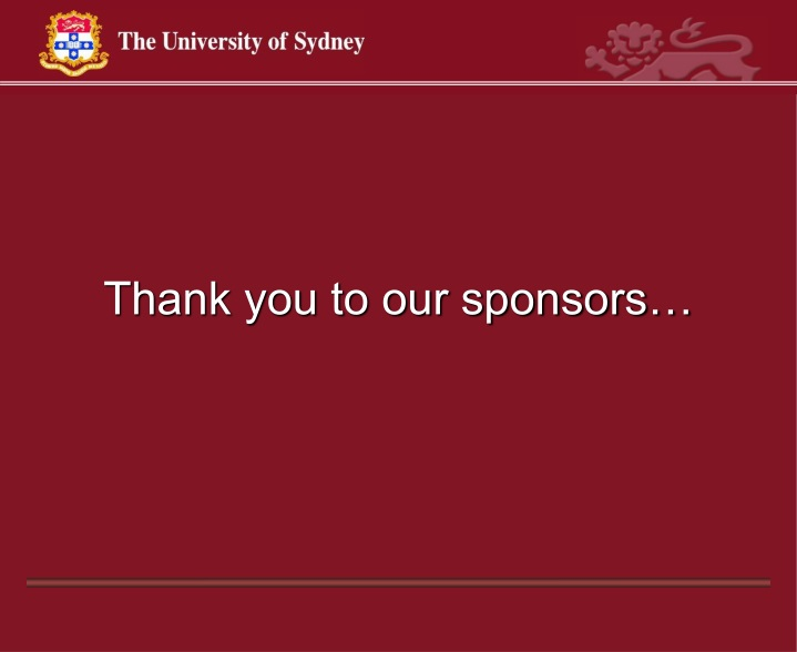 thank you to our sponsors n.
