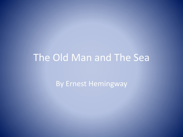 the old man and the sea n.