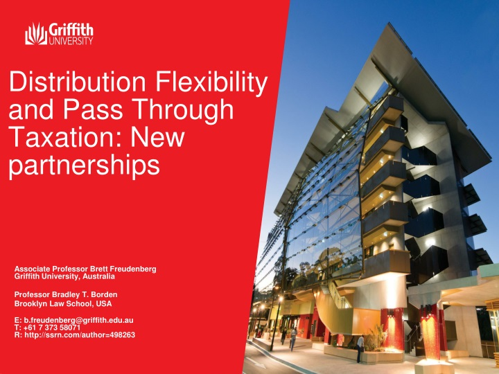 distribution flexibility and pass through taxation new partnerships n.