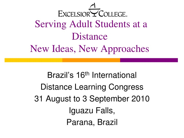 serving adult students at a distance new ideas new approaches n.