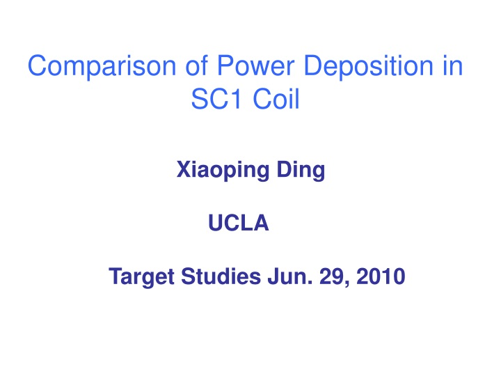 comparison of power deposition in sc1 coil n.