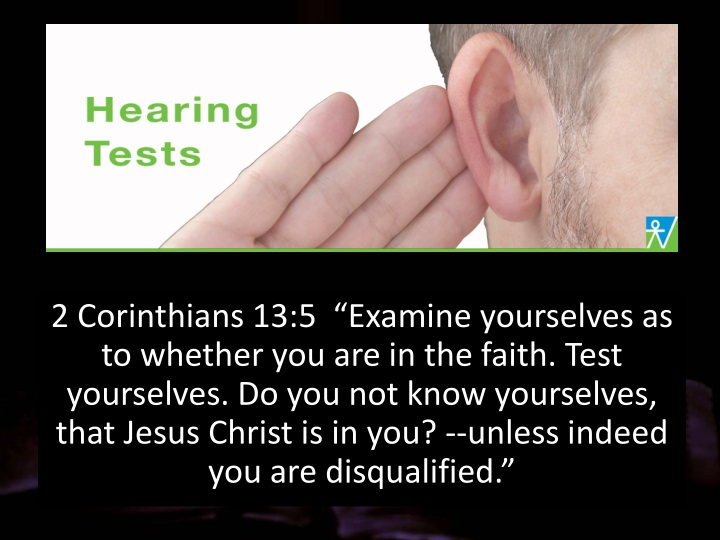 2 corinthians 13 5 examine yourselves n.