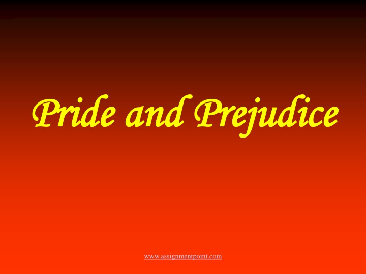 pride and prejudice n.