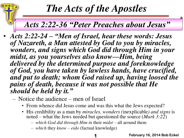 acts 2 22 24 men of israel hear these words jesus n.