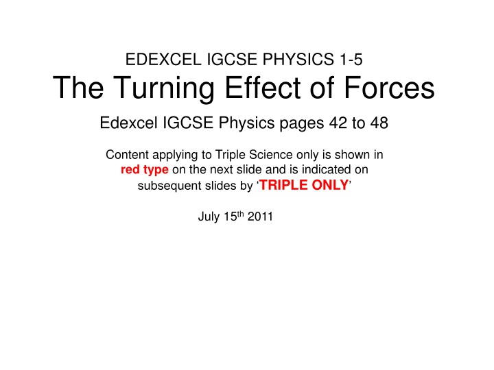 edexcel igcse physics 1 5 the turning effect of forces n.