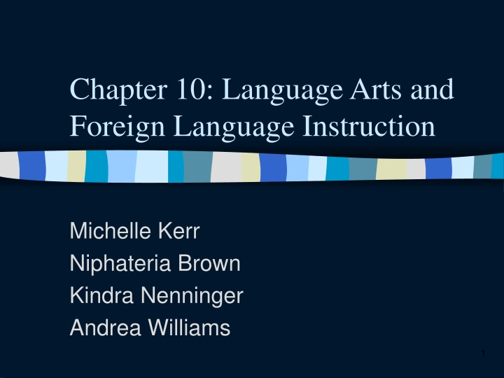 chapter 10 language arts and foreign language instruction n.