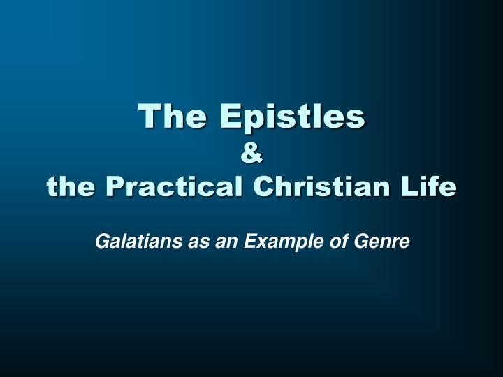 the epistles the practical christian life n.