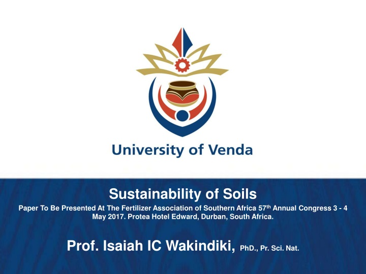sustainability of soils paper to be presented n.
