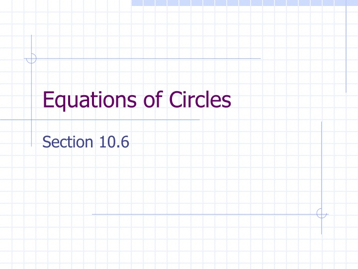 equations of circles n.