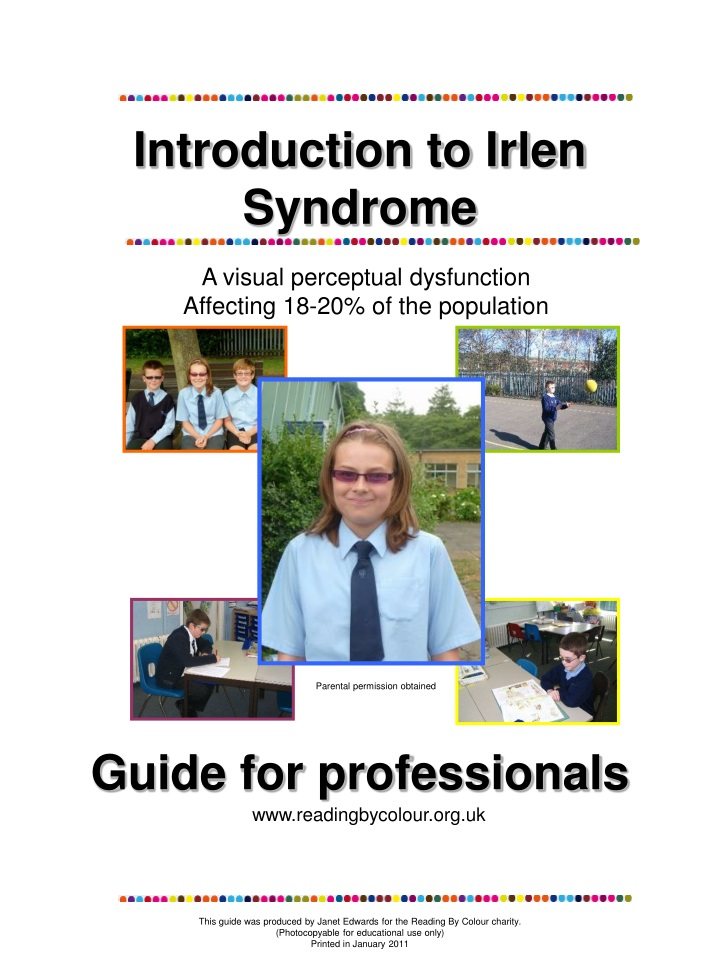 introduction to irlen syndrome n.