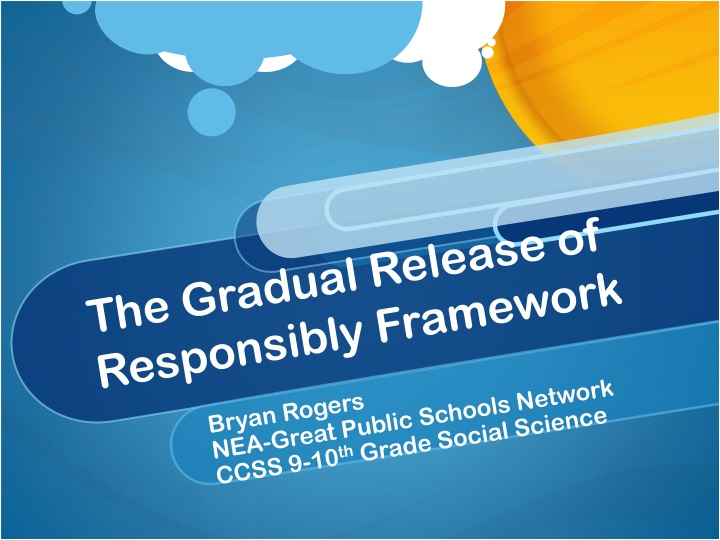 the gradual release of responsibly framework n.