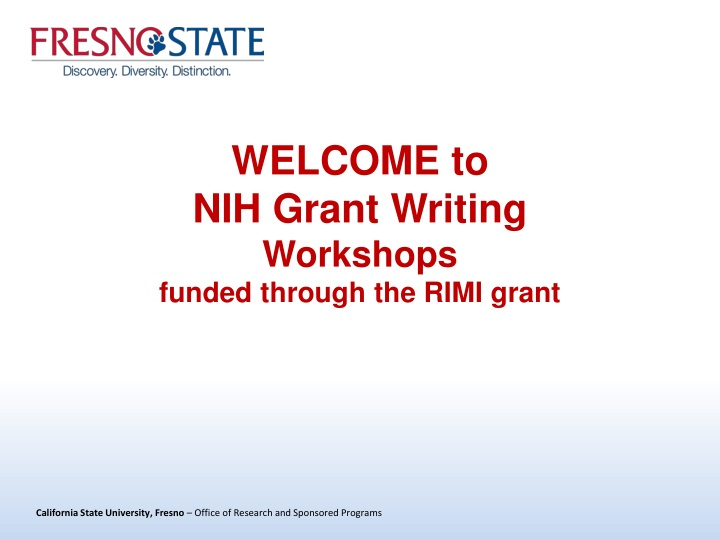 welcome to nih grant writing workshops funded through the rimi grant n.
