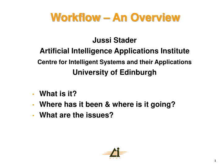 workflow an overview n.
