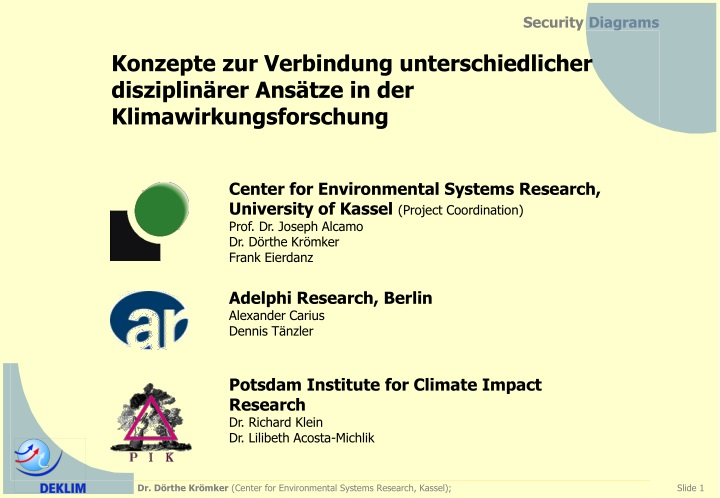 center for environmental systems research n.