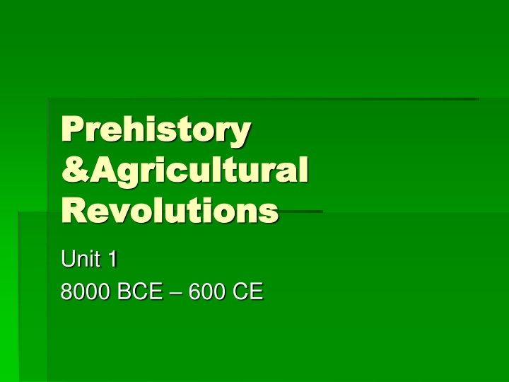prehistory agricultural revolutions n.