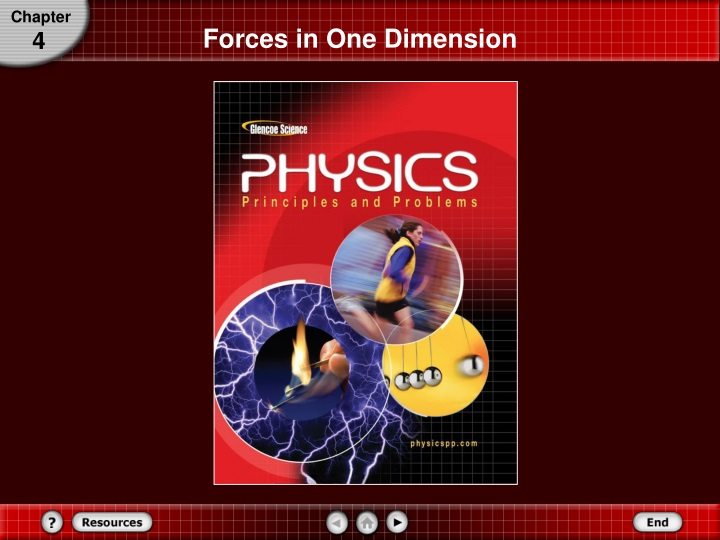 forces in one dimension n.