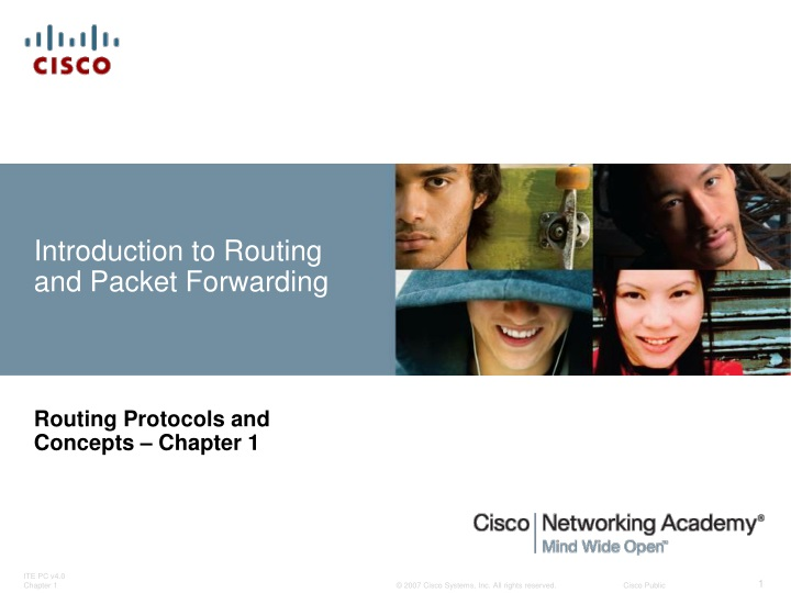 introduction to routing and packet forwarding n.
