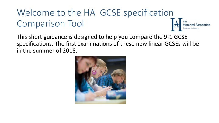 welcome to the ha gcse specification comparison tool n.