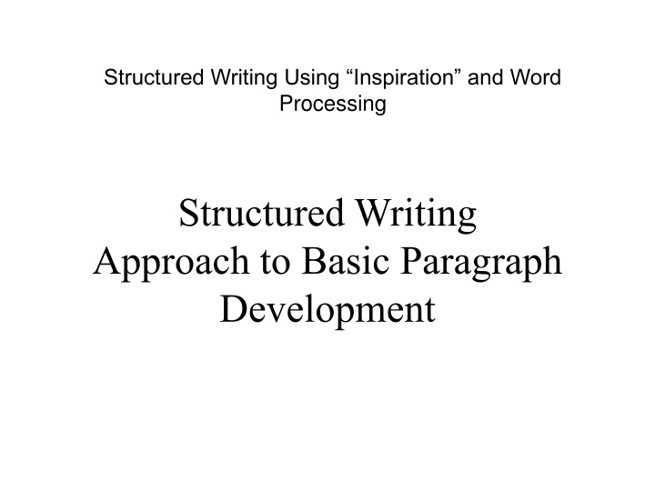 structured writing using inspiration and word n.