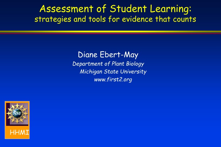 assessment of student learning strategies and tools for evidence that counts n.