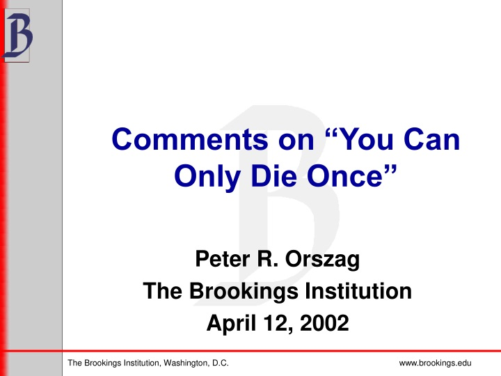 comments on you can only die once n.