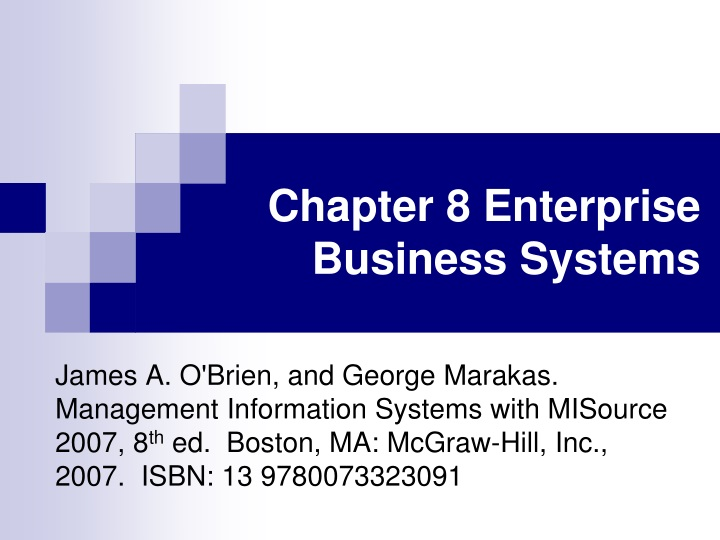 chapter 8 enterprise business systems n.
