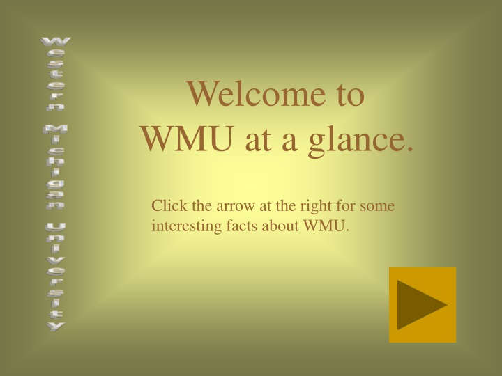 welcome to wmu at a glance n.