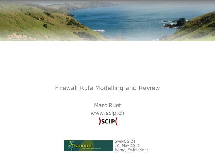 firewall rule modelling and review n.