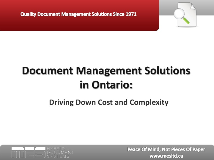 document management solutions in ontario n.