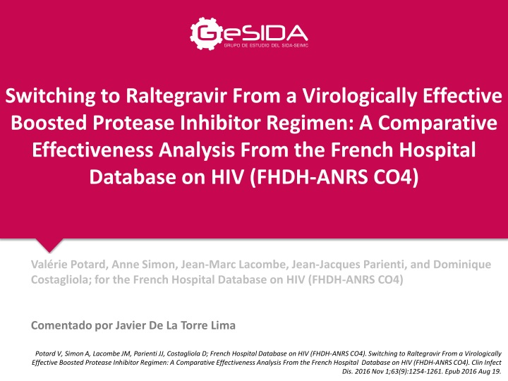 switching to raltegravir from a virologically n.