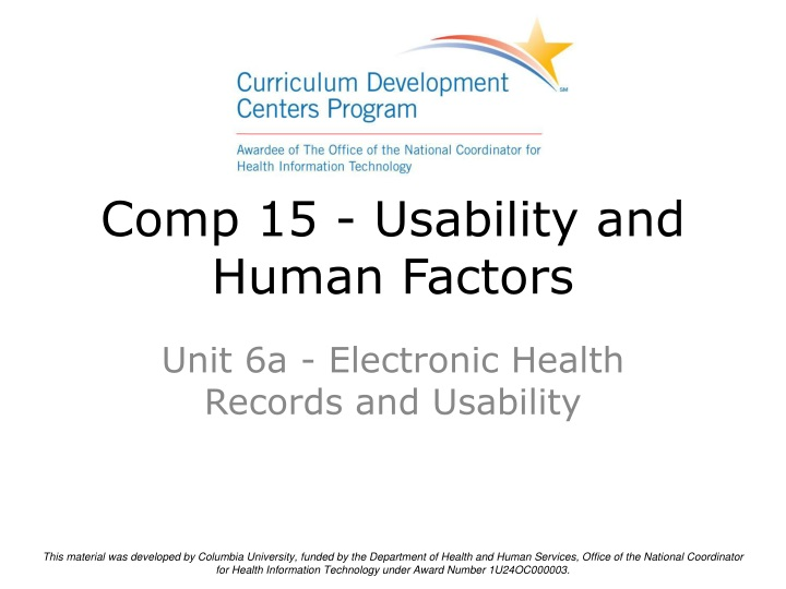 comp 15 usability and human factors n.
