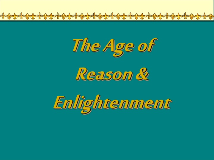 the age of reason enlightenment n.