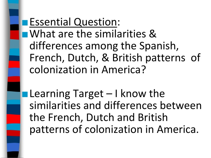 essential question what are the similarities n.