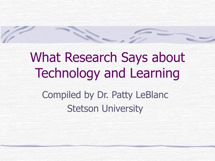 what research says about technology and learning n.