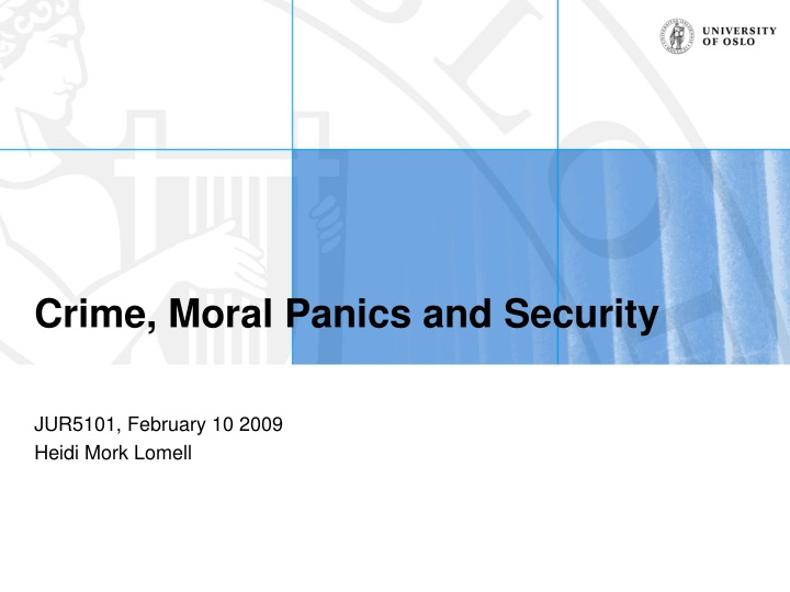 crime moral panics and security n.