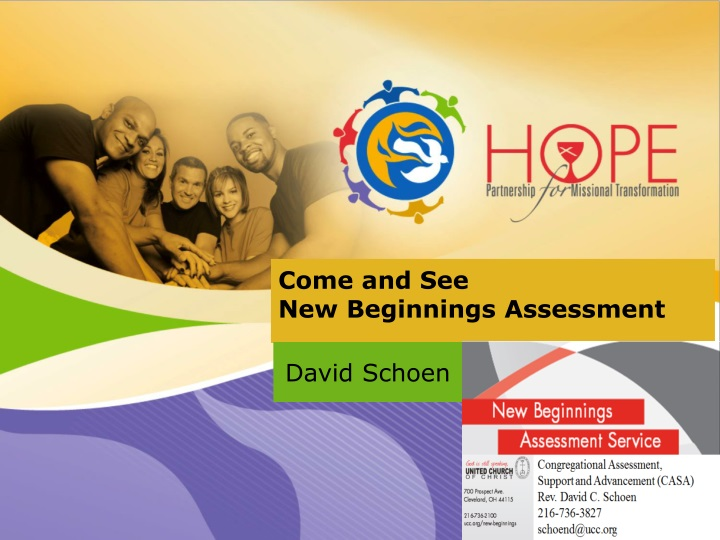 come and see new beginnings assessment n.