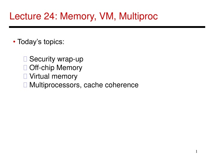lecture 24 memory vm multiproc n.