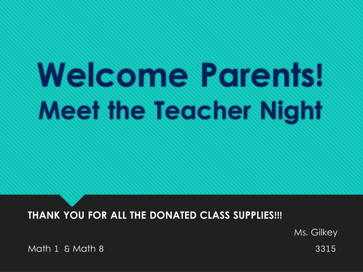 welcome parents meet the teacher night n.