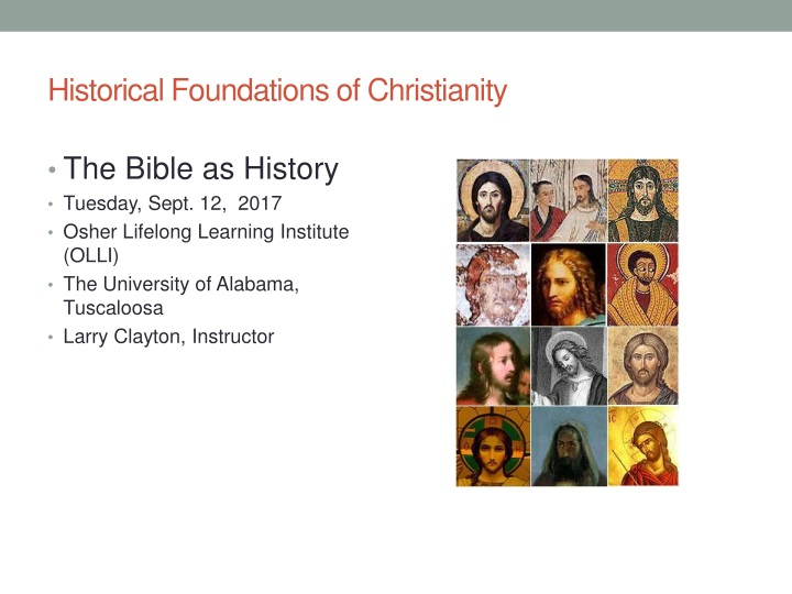 historical foundations of christianity n.