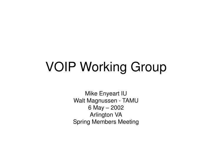 voip working group n.