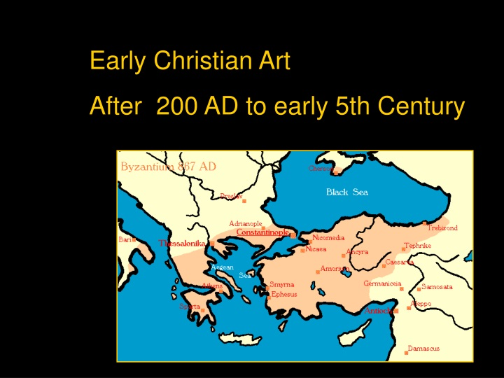 early christian art after 200 ad to early n.