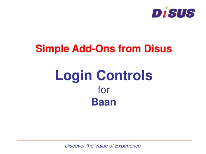 simple add ons from disus login controls for baan n.