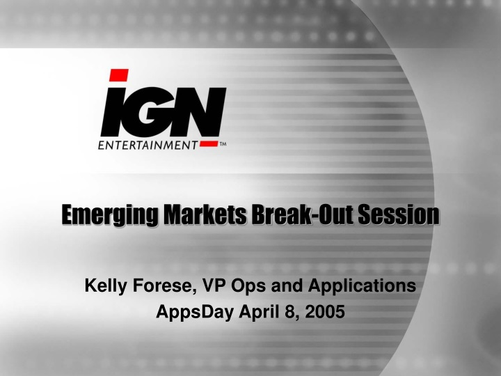 emerging markets break out session n.