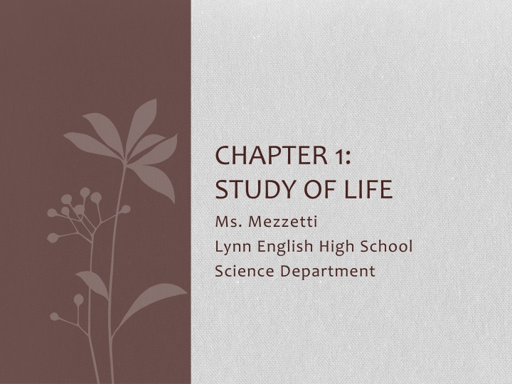 chapter 1 study of life n.