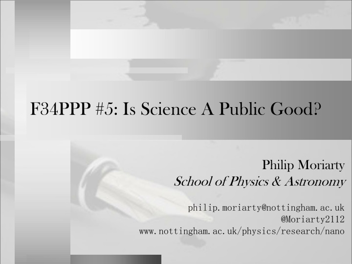 f34ppp 5 is science a public good n.